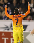 FC Barcelona's David Villa celebrates goal during Spanish King's Cup match.October 30,2012. (ALTERPHOTOS/Acero)