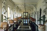 Asie/Inde/Rajasthan/Udaipur : Galerie de l'hôtel le Trident