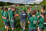 24 May 2014: The Vermont Commons School team visualizes play prior to competing in the Vermont High Schools, VYUL State Ultimate Disk Championships at the Tree Farm Recreational Facility in Essex Junction, Vermont. Mandatory Credit: Ed Wolfstein Photo