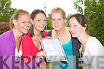 Roisin Looney, Aisling Woods Killorglin, Amy Moriarty Fossa and Sinead Gleeson Firies delighted with their Leaving Cert Results after collecting them at Intermediate School Killorglin
