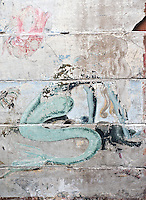 &copy;Si Barber 07739 472 922.  <br /> A mermaid mural painted by USAAF servicemen at the Norfolk and Suffolk Air Museum, Bungay,UK.<br />  <br /> USAGE TERMS: ONE USE IN PRINT AND ONLINE. NO SYNDICATION, RETENTION, OR THIRD PARTY SALES. MINIMUM FEES APPLY
