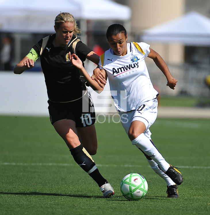Leslie Osborne, Marta. The Los Angeles Sol defeated FC Gold Pride, 2-0, at Buck Shaw Stadium in Santa Clara, CA on May 24, 2009.