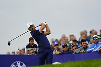 Paul Casey (Team Europe) on the 7th during the friday fourballs at the Ryder Cup, Le Golf National, Iles-de-France, France. 27/09/2018.<br /> Picture Fran Caffrey / Golffile.ie<br /> <br /> All photo usage must carry mandatory copyright credit (© Golffile | Fran Caffrey)