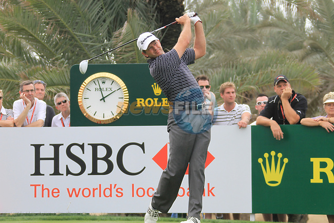 Ratief Goosen teeing off on the 9th tee on day one of the Abu Dhabi HSBC Golf Championship 2011, at the Abu Dhabi golf club, UAE. 20/1/11..Picture Fran Caffrey/www.golffile.ie.