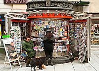 Magazine kiosk, Madrid, Spain