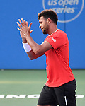 July 29,2019:  Jo-Wilfried Tsonga (FRA) defeated Brayden Schnur (CAN) 6-4, 7-6, at the CitiOpen being played at Rock Creek Park Tennis Center in Washington, DC, .  ©Leslie Billman/Tennisclix
