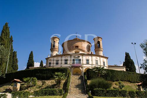 Umbria, Italy. The Santuario della Madonna di Belvedere (Sanctuary of the Madonna of Belvedere) Citta di Castello, Umbria, Italy