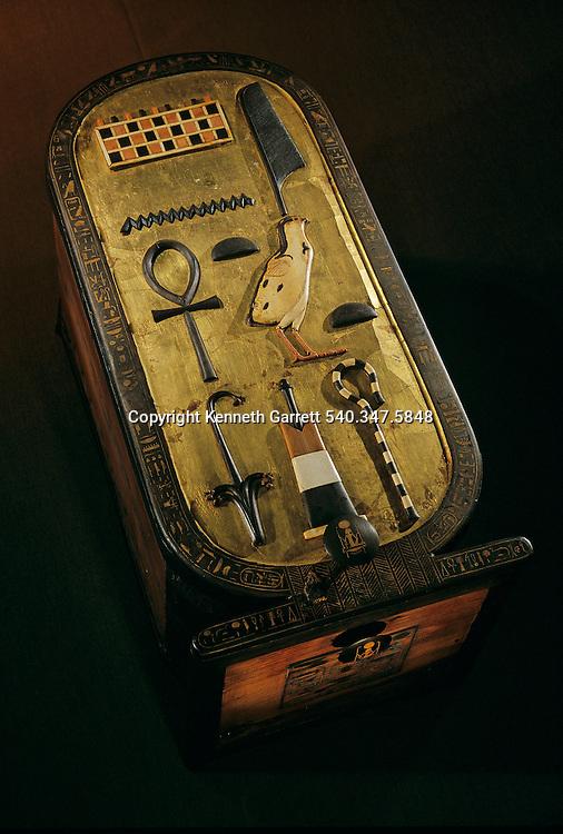 Cartouche shaped box,Tutankhamun Book, Page 4