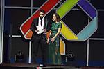 01.12.2016 Barcelona. Los 40 music awards 2016. Jesus Castro y Gema Hurtado