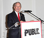 Mayor Michael Bloomberg attending the Unveiling of the Revitalized Public Theater at Astor Place in New York City on 10/4/2012.