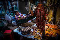 Vendors at the famous Russian Market in Phnom Penh, Cambodia