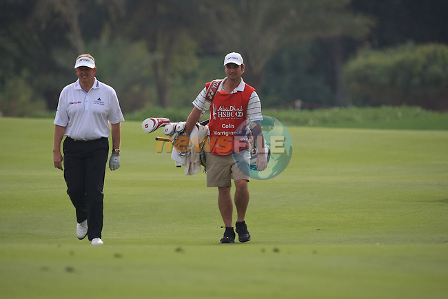 Colin Montgomery  walking the 13th on day 3 of the Abu Dhabi HSBC Golf Championship 2011, at the Abu Dhabi golf club, UAE. 22/1/11..Picture Fran Caffrey/www.golffile.ie.