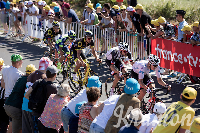 Tom Dumoulin (NED/Team Sunweb) chasing to the finish to minimise time loss<br /> <br /> Stage 6: Brest > Mûr de Bretagne / Guerlédan (181km)<br /> <br /> 105th Tour de France 2018<br /> ©kramon