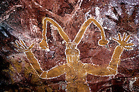 Images from the Book Journey Through Colour and Time,Images from the Book Journey Through Colour and Time,Aborigine Rock Art,Arnhem Land Northern Terriory in Australia MIMI SPRIT FIGURES PAINTED ON A CAVE WALL 1000 OF YEARS AGO