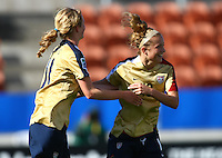 Kristie Mewis celebrate her goal with team mate Sam Mewis..FIFA U17 Women's World Cup, USA v Korea Republic, Waikato Stadium, Hamilton, New Zealand, Sunday 9 November 2008. Photo: Renee McKay/PHOTOSPORT
