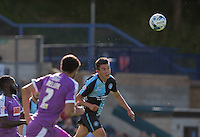 Luke O'Nien of Wycombe Wanderers clears the ball during the Sky Bet League 2 match between Wycombe Wanderers and Plymouth Argyle at Adams Park, High Wycombe, England on 12 September 2015. Photo by Andy Rowland.