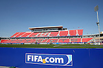 22 July 2007: A view of the West Stand before the game. At the National Soccer Stadium, also known as BMO Field, in Toronto, Ontario, Canada. Chile's Under-20 Men's National Team defeated Austria's Under-20 Men's National Team 1-0 in the third place match of the FIFA U-20 World Cup Canada 2007 tournament.