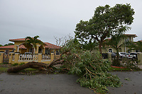 Tornado damage caused by Hurricane Irma in Miami, Fla. on September 9, 2017.