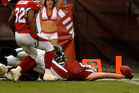 Nov. 6, 2005; Tempe, AZ, USA; Tight end (83) Eric Edwards of the Arizona Cardinals scores a touchdown against the Seattle Seahawks at Sun Devil Stadium. Mandatory Credit: Mark J. Rebilas