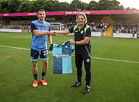 New signing Nick Freeman during the Pre-Season Friendly match between Wycombe Wanderers and Queens Park Rangers at Adams Park, High Wycombe, England on the 22nd July 2016. Photo by Liam McAvoy / PRiME Media Images.