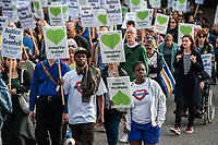 Grenfell survivors silent march 14-5-18