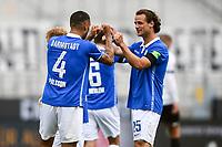v.l. Torjubel, Goal celebration, celebrate the goal zum 4:0 durch Victor Palsson (SV Darmstadt 98)<br /> - 23.05.2020: Fussball 2. Bundesliga, Saison 19/20, Spieltag 27, SV Darmstadt 98 - FC St. Pauli, emonline, emspor, v.l. <br /> <br /> Foto: Florian Ulrich/Jan Huebner/Pool VIA Marc Schüler/Sportpics.de<br /> Nur für journalistische Zwecke. Only for editorial use. (DFL/DFB REGULATIONS PROHIBIT ANY USE OF PHOTOGRAPHS as IMAGE SEQUENCES and/or QUASI-VIDEO)