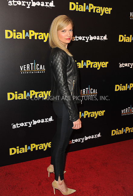 WWW.ACEPIXS.COM<br /> <br /> April 7, 2015, LA<br /> <br /> Nicole Forester arriving at the 'Dial A Prayer' premiere at the Landmark Theater on April 7, 2015 in Los Angeles, California.<br /> <br /> By Line: Peter West/ACE Pictures<br /> <br /> <br /> ACE Pictures, Inc.<br /> tel: 646 769 0430<br /> Email: info@acepixs.com<br /> www.acepixs.com