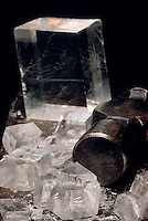 BREAKING CALCITE WITH A HAMMER<br />