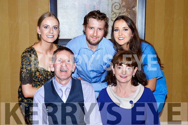 Johnny O'Connor, Ballaugh, Killarney with his family at his retirement party from the ESB in the Killarney Avenue Hotel on Satuday night front row l-r: Johnn and Breeda, back: Brid, John and Nancy O'Connor