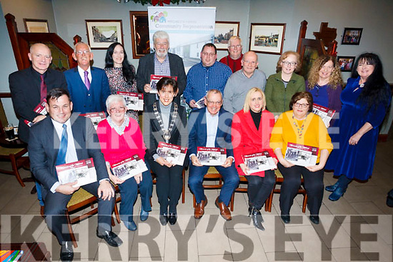 Attending the Mitchels Borherbue Community &quot;Regeneration memories of Mitchells&quot; Calendar and CD  launch.<br /> Seated , l-r Andy Smith, Angela Walsh, Norma Foley (Mayor of Tralee), Mike Scannel, Dolores McElligott, Noreen McElligott.<br /> back l to r: Martin Conway, Cllr Sam Locke, Paula O'Sullivan, Johnny Wall, Paul Johnson, John Duggan, Tim McSweeney, Helena Sankar, Treasa Walsh and Caroline Keogh.