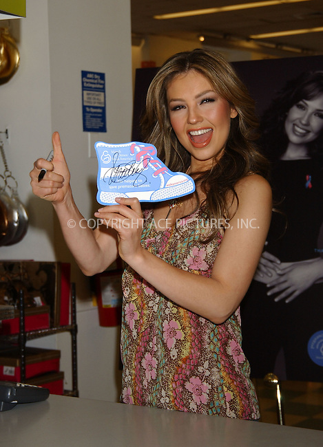 """WWW.ACEPIXS.COM . . . . ....March 21 2006, New York City....Singer Thalia Sodi & retailer Kmart Support the March Of Dimes """"Walk America"""" charity at Kmart's Penn Station store.....Please byline: KRISTIN CALLAHAN - ACEPIXS.COM.. . . . . . ..Ace Pictures, Inc:  ..Philip Vaughan (212) 243-8787 or (646) 769 0430..e-mail: info@acepixs.com..web: http://www.acepixs.com"""
