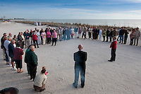 Love at Lovers Key. Thirty-two couples take part in first annual Renewal of Vows at Lovers Key State Park, Fort Myers Beach, Florida. Minister Chris Christensen of Universal Life Church presided over the ceremony.  Photo by Debi Pittman Wilkey