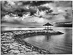 Dreaming in Black and White a very peaceful moment during a sunrise at Sansur Beach in Bali Indonesia November 10, 2016. this photos was edited with Snapseed and shot with my iPhone 7 ©Fitzroy Barrett