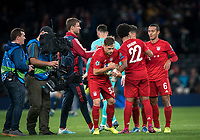 Joshua Kimmich tried to take the matchball from Serge Gnabry of Bayern Munich at full time during the UEFA Champions League group match between Tottenham Hotspur and Bayern Munich at Wembley Stadium, London, England on 1 October 2019. Photo by Andy Rowland.