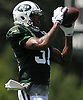 Derrick Jones #31 of the New York Jets practices during training camp at the Atlantic Health Jets Training Center in Florham Park, NJ on Monday, Aug. 6, 2018.