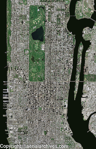 aerial photo map Manhattan, New York City | Aerial Archives | San