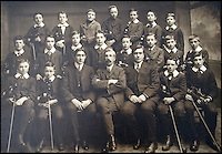 BNPS.co.uk (01202 558833)<br /> Picture: HAldridge/BNPS<br /> <br /> ****Please use full byline****<br /> <br /> Wallace Hartley (Back left) as a teenage school boy in the early 1890s.<br /> <br /> The violin played by the bandmaster on the Titanic as the ship was sinking is finally being auctioned for an estimated &pound;400,000.<br /> <br /> The wooden instrument has been proven to be the one used by Wallace Hartley as his band famously played on to help keep the passengers calm during the disaster.<br /> <br /> Its existence and survival only emerged in 2006 when the son of an amateur violinist who was gifted it by her music teacher in the early 1940s contacted an auctioneers.