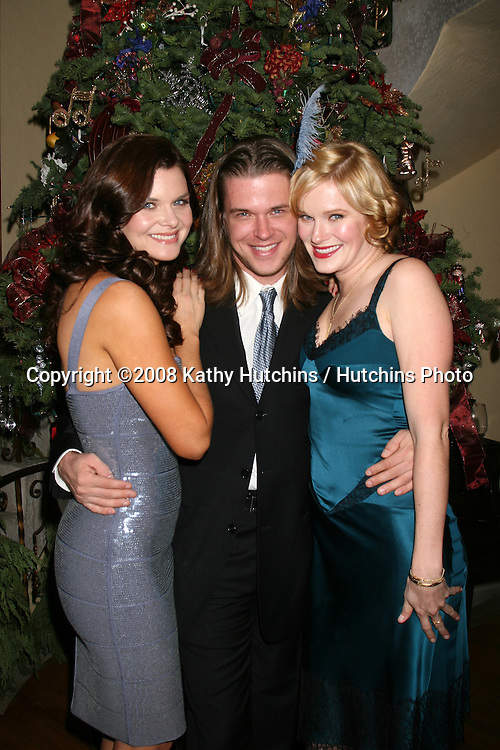 ***EXCLUSIVE***.Heather Tom, Brother David Tom, and sister Nicholle Tom  at Heather Tom's Annual Christmas Party at her home in Glendale, CA on December 13, 2008.©2008 Kathy Hutchins / Hutchins Photo..EXCLUSIVE..                .