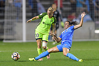 Bridgeview, IL - Wednesday August 16, 2017: Jess Fishlock, Vanessa DiBernardo during a regular season National Women's Soccer League (NWSL) match between the Chicago Red Stars and the Seattle Reign FC at Toyota Park.