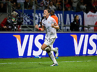 Abby Wambach.  Japan won the FIFA Women's World Cup on penalty kicks after tying the United States, 2-2, in extra time at FIFA Women's World Cup Stadium in Frankfurt Germany.