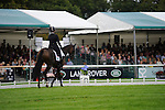 Meghan Odonoghue [USA] riding Pirate <br />  during the Dressage phase of the 2014 Land Rover Burghley Horse Trials held at Burghley House, Stamford, Lincolnshire