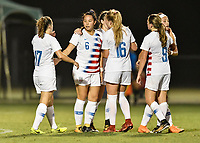 Lakewood Ranch, FL - Wednesday, October 10, 2018:   Sunshine Fontes, goal celebration during a U-17 USWNT match against Colombia.  The U-17 USWNT defeated Colombia 4-1.