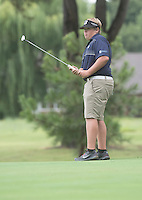 NWA Democrat-Gazette/J.T. WAMPLER Har-Ber High's Kade Keith watches his putt on hole four Wednesday Aug. 5, 2015 at the Springdale Bulldog Invitational at the Springdale Country Club.