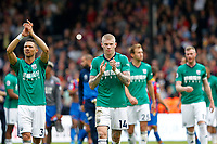 James McClean of West Brom leads the fan appreciation during the EPL - Premier League match between Crystal Palace and West Bromwich Albion at Selhurst Park, London, England on 13 May 2018. Photo by Carlton Myrie / PRiME Media Images.