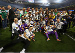 Real Madrid with the trophy during the Champions League Final match at the Millennium Stadium, Cardiff. Picture date: June 3rd, 2017.Picture credit should read: David Klein/Sportimage