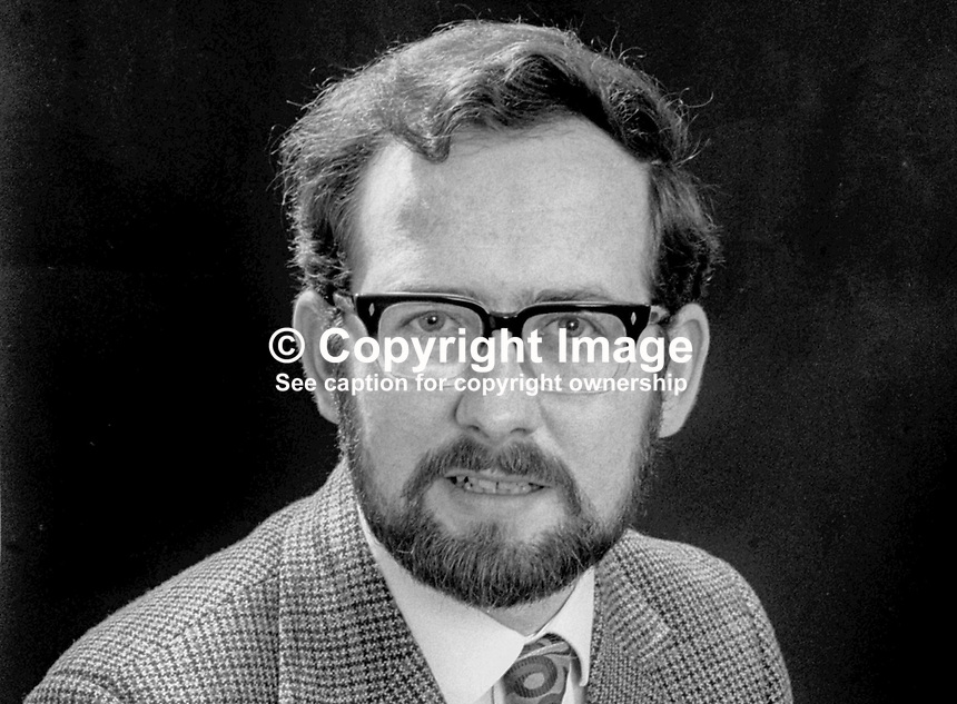 Berkley Farr, candidate, Liberal Party, South Down, N Ireland Assembly Election, June, 1973, 197305000320<br /> <br /> Copyright Image from Victor Patterson, 54 Dorchester Park, Belfast, UK, BT9 6RJ<br /> <br /> t1: +44 28 9066 1296 (from Rep of Ireland 048 9066 1296)<br /> t2: +44 28 9002 2446 (from Rep of Ireland 048 9002 2446)<br /> m: +44 7802 353836<br /> <br /> e1: victorpatterson@me.com<br /> e2: victorpatterson@gmail.com<br /> <br /> The use of my copyright images is subject to my Terms &amp; Conditions.<br /> <br /> It is IMPORTANT that you familiarise yourself with them. They are available on my website at www.victorpatterson.com.<br /> <br /> None of my copyright images may be used on a website unless they are visibly watermarked, i.e. &copy; Victor Patterson within the body of the visible image. Metadata denoting my copyright must NOT be deleted. <br /> <br /> Web use is extra at currently recommended NUJ rates.