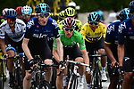 Green Jersey Michal Kwiatkowski (POL) and Yellow Jersey Egan Bernal (COL) Team Sky during Stage 8 of the 77th edition of Paris-Nice 2019 running 110km from Nice to Nice, France. 16th March 2019<br /> Picture: ASO/Alex Broadway | Cyclefile<br /> All photos usage must carry mandatory copyright credit (&copy; Cyclefile | ASO/Alex Broadway)