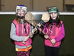 Emily Byrne and Yasmin Finlay who took part in the Camogie tournament at Drogheda Leisure Centre. Photo:Colin Bell/pressphotos.ie