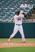 Bowie Baysox Ademar Rifaela (2) at bat during an Eastern League game against the Akron RubberDucks on May 30, 2019 at Prince George's Stadium in Bowie, Maryland.  Akron defeated Bowie 9-5.  (Mike Janes/Four Seam Images)