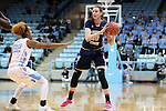16 February 2017: Georgia Tech's Katarina Vuckovic (SRB) (10) and North Carolina's Paris Kea (22). The University of North Carolina Tar Heels hosted the Ramblin' Wreck from Georgia Tech University at Carmichael Arena in Chapel Hill, North Carolina in a 2016-17 NCAA Division I Women's Basketball game. North Carolina won the game 89-88.